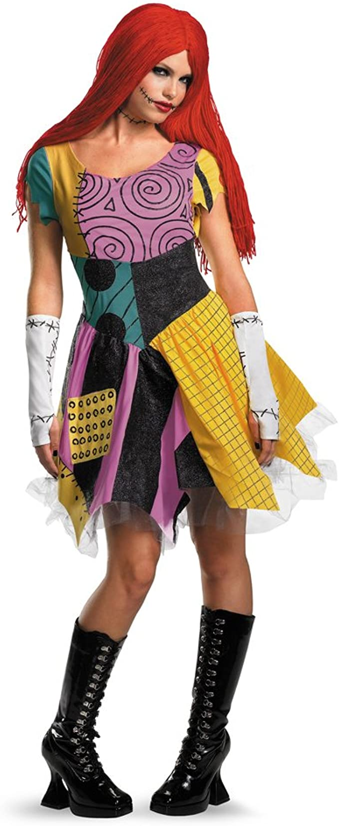 Amazon Com Spook Shop Womens Nightmare Before Christmas Sally Adult Sized Costumes Multi Large Us Clothing