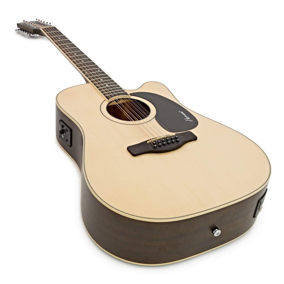 Guitarra Electro-Acústica Hartwood Villanelle de 12 cuerdas: Amazon.es: Instrumentos musicales