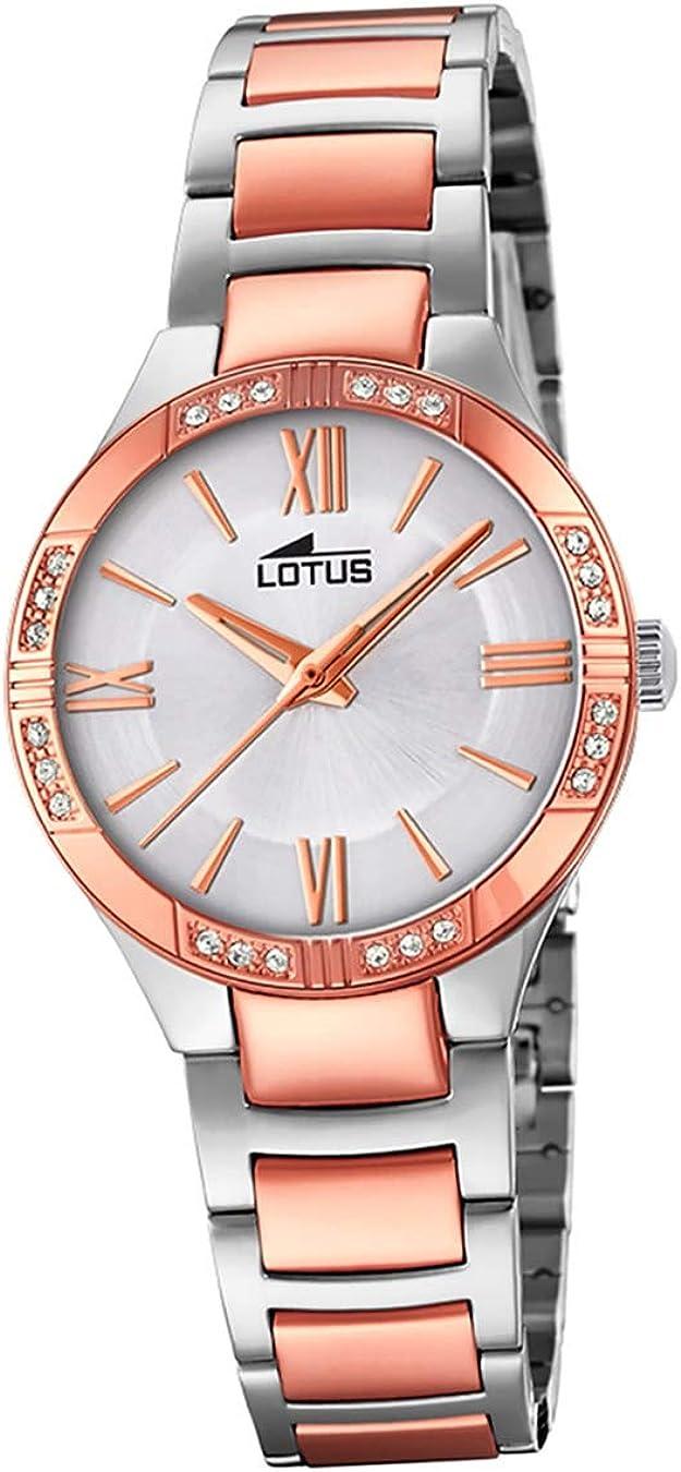 Lotus Reloj Analógico para Mujer de Cuarzo con Correa en Acero Inoxidable 18388/2