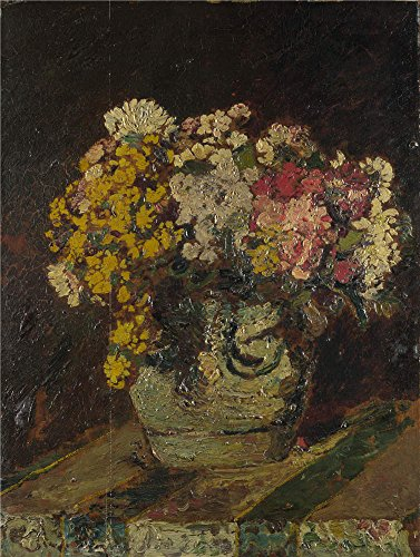 Polyster Canvas ,the Replica Art DecorativePrints On Canvas Of Oil Painting 'Adolphe Monticelli A Vase Of Wild Flowers ', 18 X 24 Inch / 46 X 61 Cm Is Best For Bathroom Decoration And Home Decor And Gifts (Wildflower Beach Decor Vase)