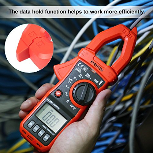 Digital Clamp Meter Eventek Et820 Multimeter Auto Range