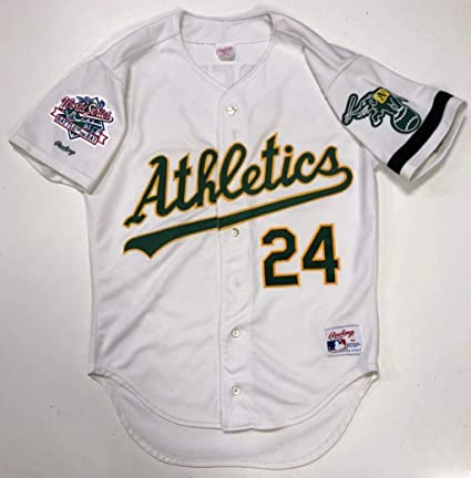 reputable site cee4b 354a4 RICKEY HENDERSON OAKLAND A's RAWLINGS AUTHENTIC 1989 WORLD ...