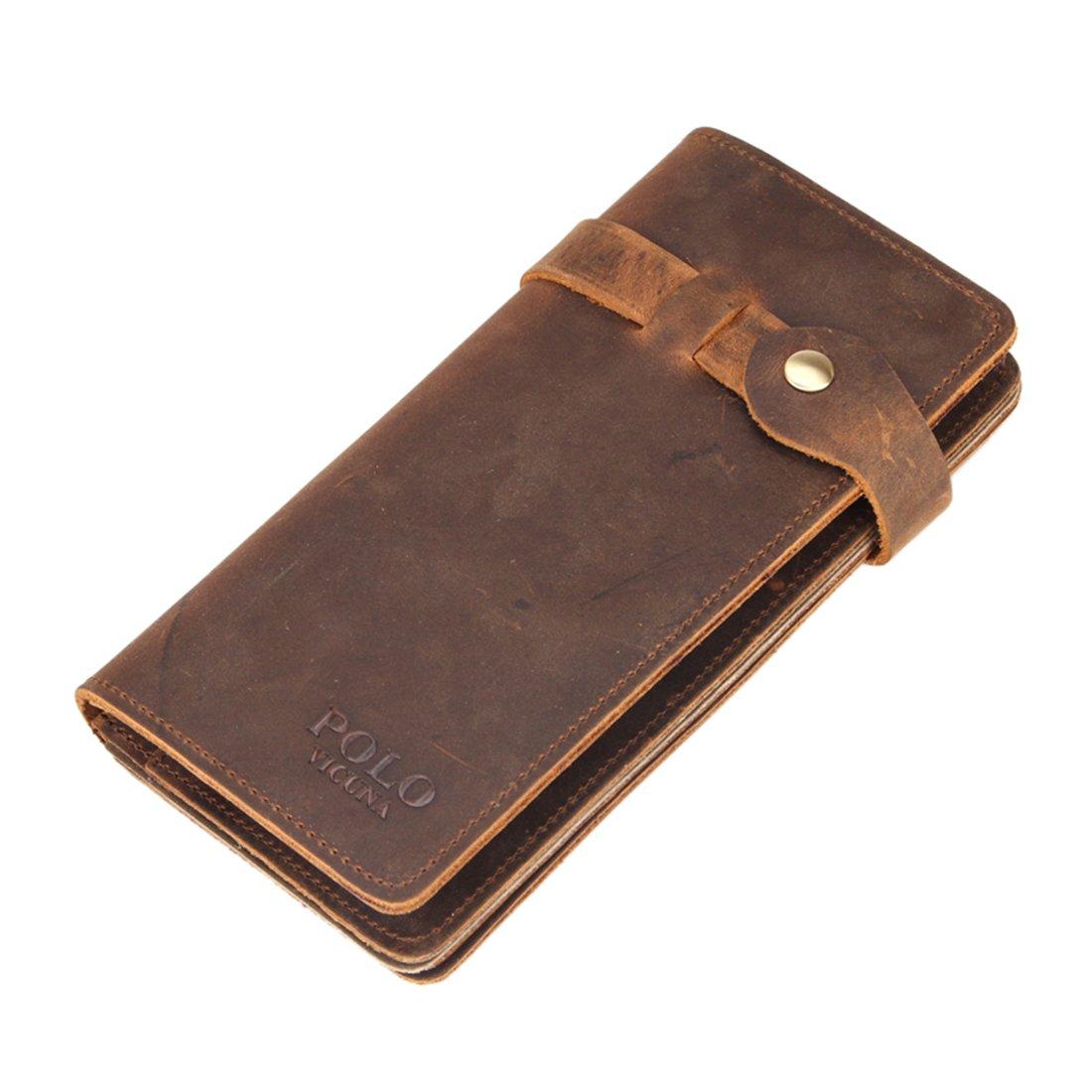 VICUNA POLO - Cartera para hombre marrón marrón: Amazon.es: Equipaje
