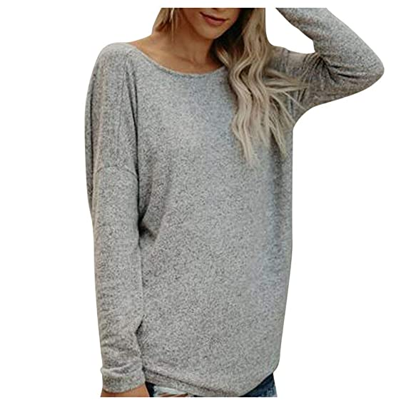Frau Langarmshirts Winter Warme Bluse Sweatshirt