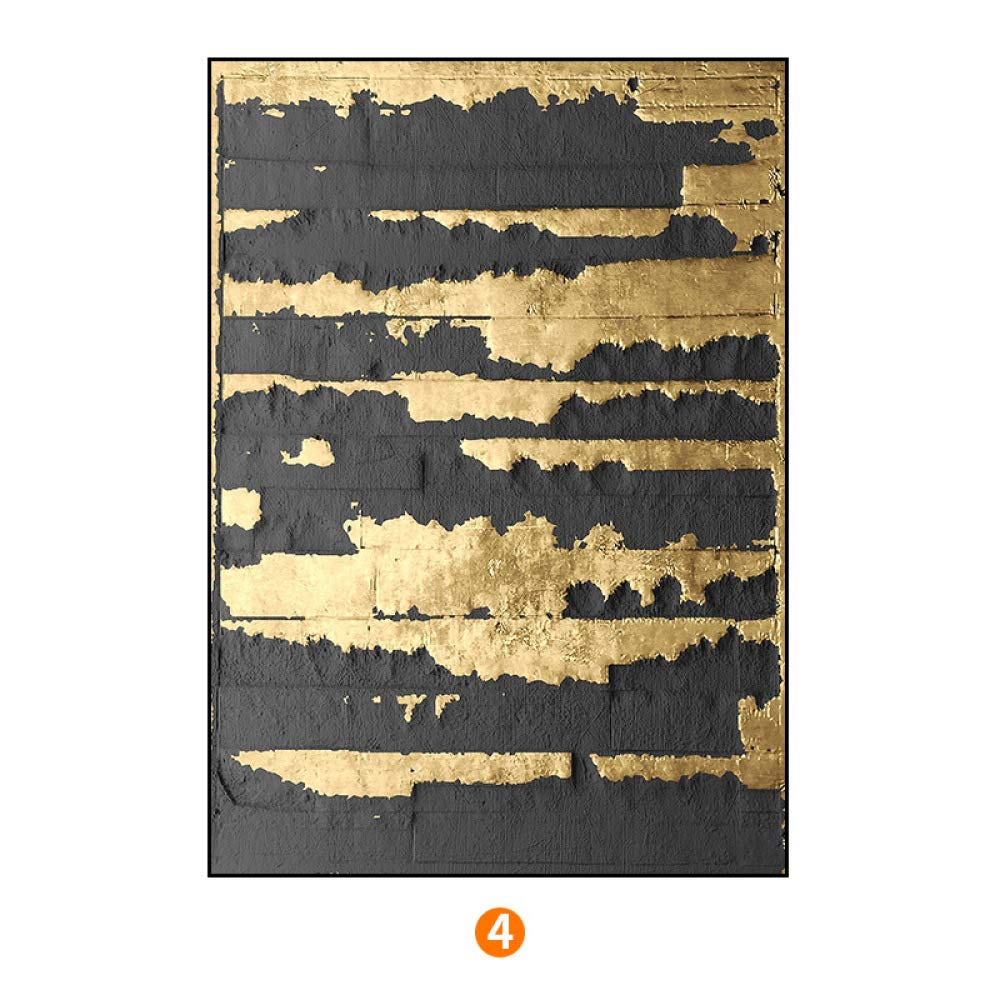 SED Abstract Gold foil Series Modern Decorative Painting, Nordic Office Living Room Painting, Bedroom Triptych, to map Custom,D,5070cm by SED
