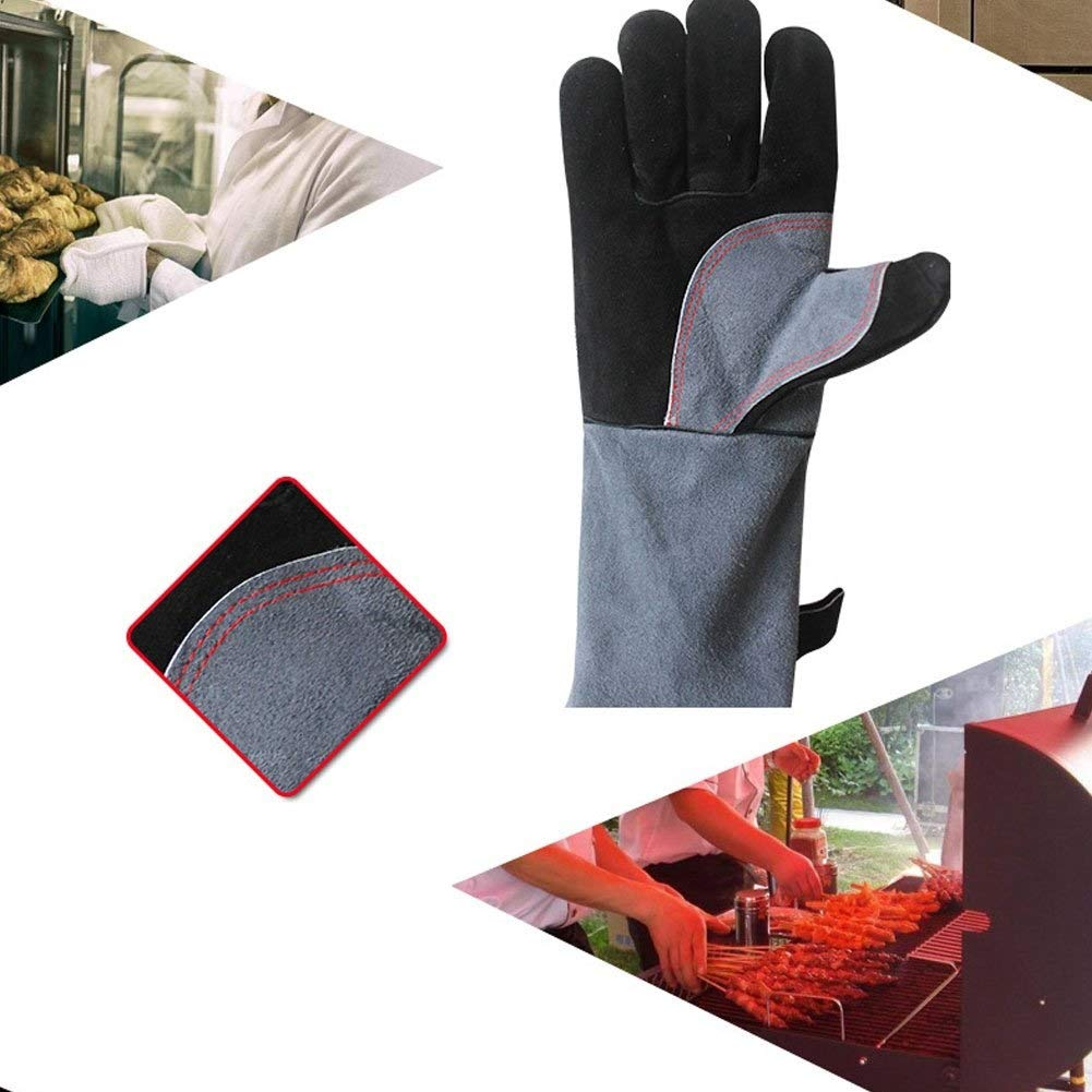IRVING Barbecue gloves high temperature flame retardant insulation kitchen microwave oven baking outdoor bbq by IRVING (Image #4)