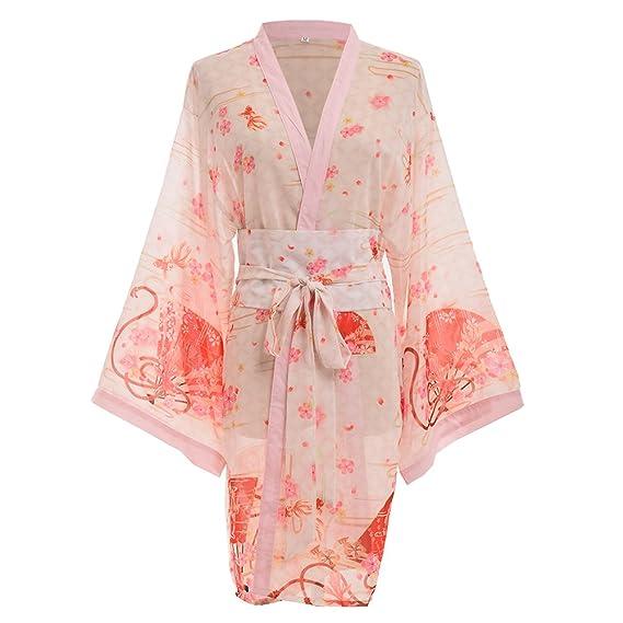 a6351fb1fab5 GRACEART Femmes Sexy Kimono Yukata avec Ceinture  Amazon.fr ...