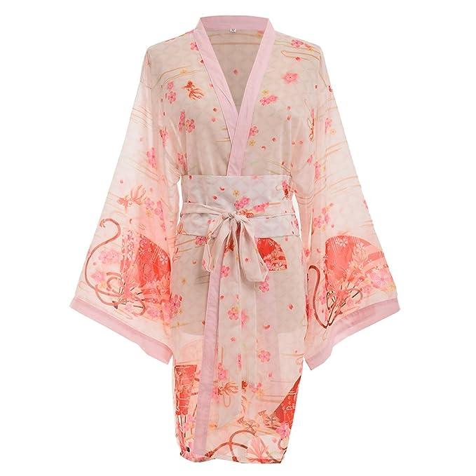 34ecc07eb839f GRACEART Women's Sexy Kimono Yukata with Waistbelt: Amazon.ca: Clothing &  Accessories