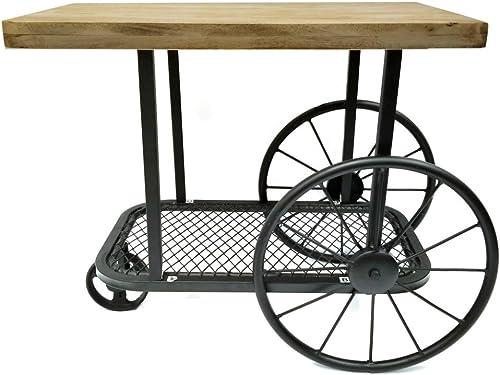 Benzara Black Wooden Top End Table