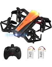 HELIFAR Drones para Niños, H802 Mini Drone con Estabilización de Altitud, Modo sin Cabeza, 3 Modos de Velocidad 4 Canales 6-Ejes, Juguete Drone para niños Adultos (Dos baterías)