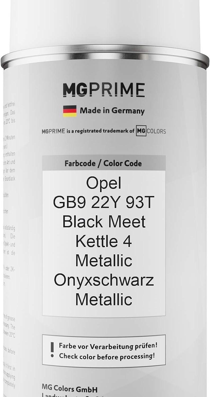 Mg Prime Autolack Sprühdosen Set Für Opel Gb9 22y 93t Black Meet Kettle 4 Metallic Onyxschwarz Metallic Basislack Klarlack Spraydose 400ml Auto