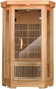 MRNIU 2-Person Saunas Steam Sauna Far Infrared Sauna Indoor Sauna Heater Portable saunas for Home with 8 Carbon Heaters