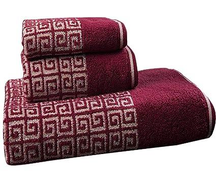 Juego de baño de Toalla Absorbente Suave de algodón de Tres Piezas (Incluye 1 Toalla