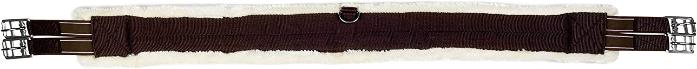 HKM 9619 Teddy - Cincha para Silla de Montar (Acolchada, cinturón con elástico, 110-145 cm)