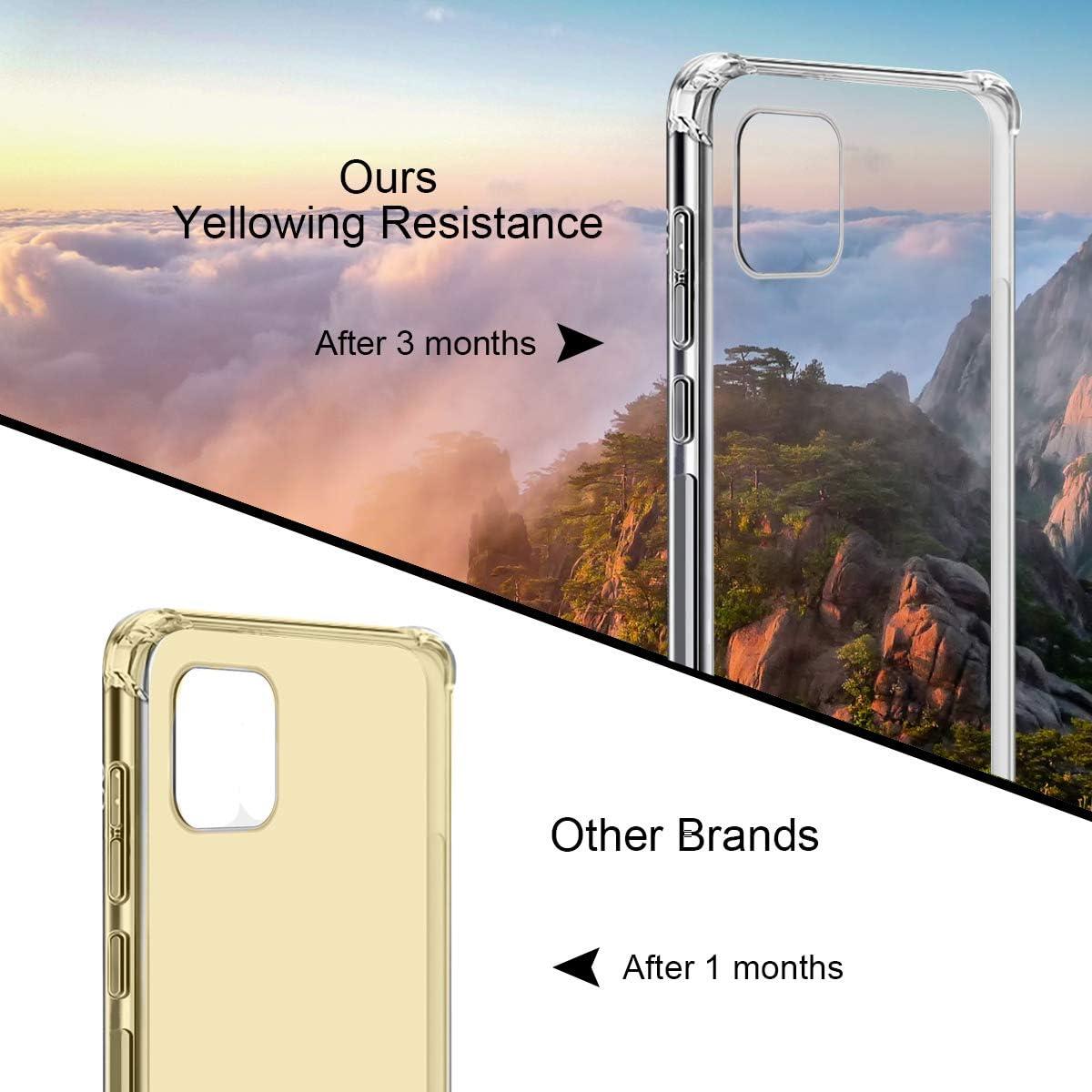 Suave TPU Transparente Gel Silicona Anti-ca/ída Protectora Carcasa para iPhone 12 Mini 5G 5,4 Pulgadas Cristal Templado Protector de Pantalla Reshias Funda para iPhone 12 Mini con 2 Pack