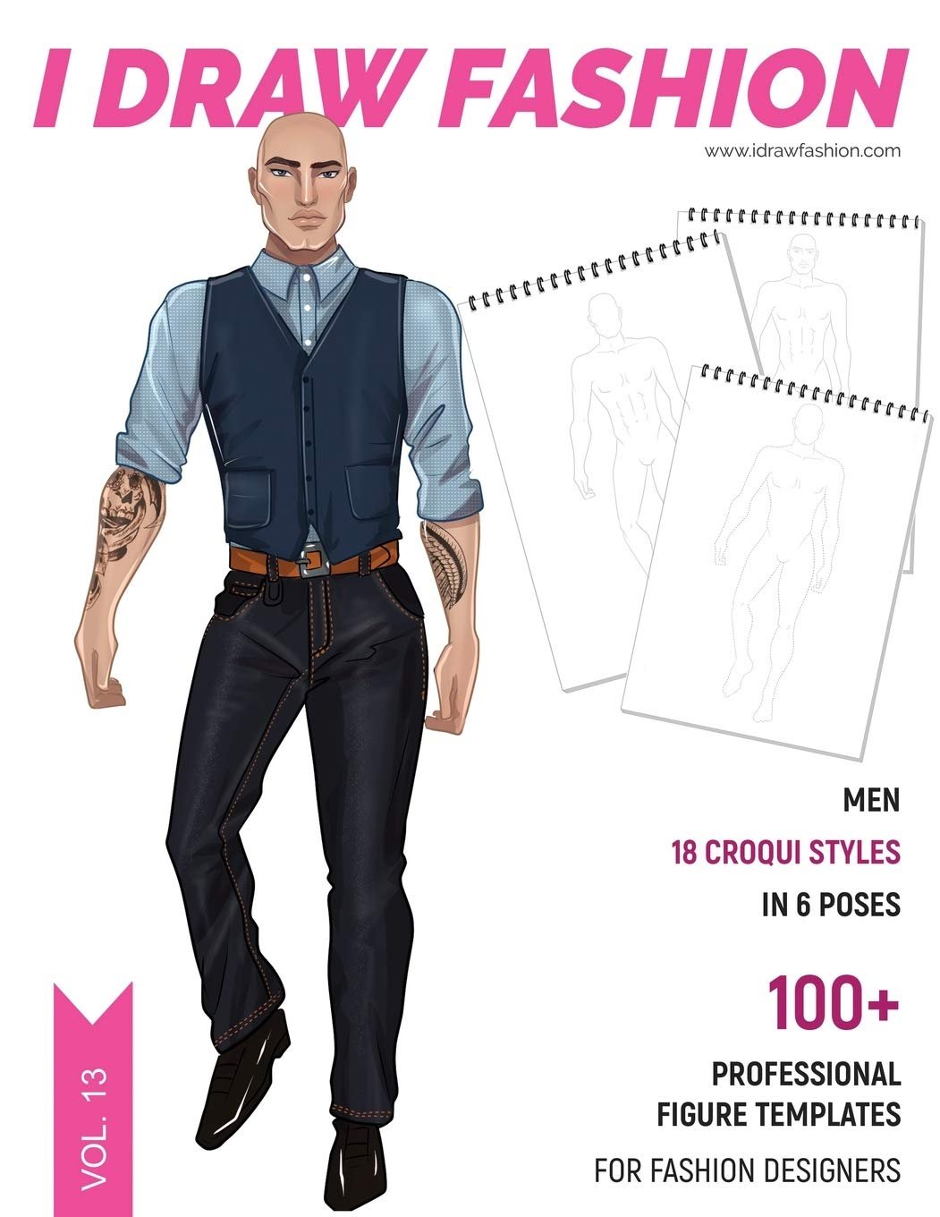 Men 100 Professional Figure Templates For Fashion Designers Fashion Sketchpad With 18 Croqui Styles In 6 Poses Fashion I Draw 9781699535202 Amazon Com Books