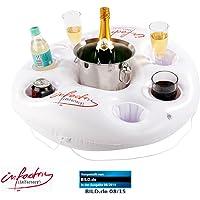 infactory Aufblasbarer Getränkehalter im coolen Rettungsring-Design