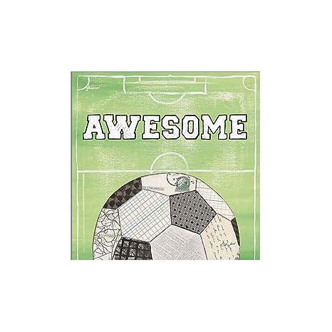 Demino Fútbol fútbol Lona de Pintura del Cartel del petróleo Cartas Dibujo de Aceite No Picture Frame Pared del Dormitorio de Pintura Decorativa L:50 ...