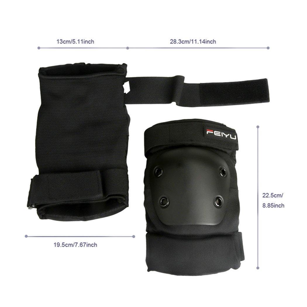 6pcs rodilla codo almohadillas guardias Set, yicol adultos ...