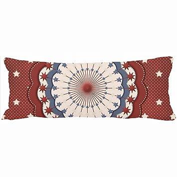 Amazon Custom Body Pillows Decorative Americana Red White And Best Americana Decorative Pillows