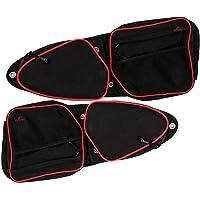 FLR 2 Pack RZR Side Door Bags UTV Front Door Side Storage Bag Set with Knee Pad Knee Protection Shockproof Storage Bag…
