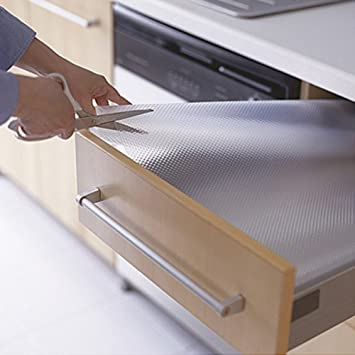Clear EVA Drawer Liner Woopower Non Slip Mat Cupboard Cabinet Shelf Rubber  Pat Protector For Table