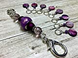Purple Coin Stitch Marker Jewelry Holder for Knitters