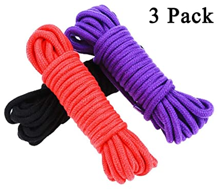 32 Ft Soft Durable Body Cotton Rope Strap Various Color Other Sexual Wellness black Purple Red Pink Health Care