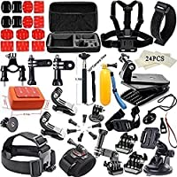 YFY 18-In-1 Basic Outdoor Sports Accessories Kit for GoPro Hero Cameras
