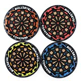JLHua 4 Pack Round Dart Board Pattern Cup Mats Silicone Coaster for Wine, Glass, Tea