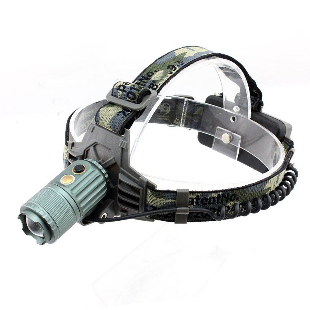 MUTANG Outdoor-LED-Scheinwerfer kostenpflichtige Super Bright Einstellbare Miner's Lamp Night Fishing Searchlight Automatische Zoom Head-Mounted Flashlight