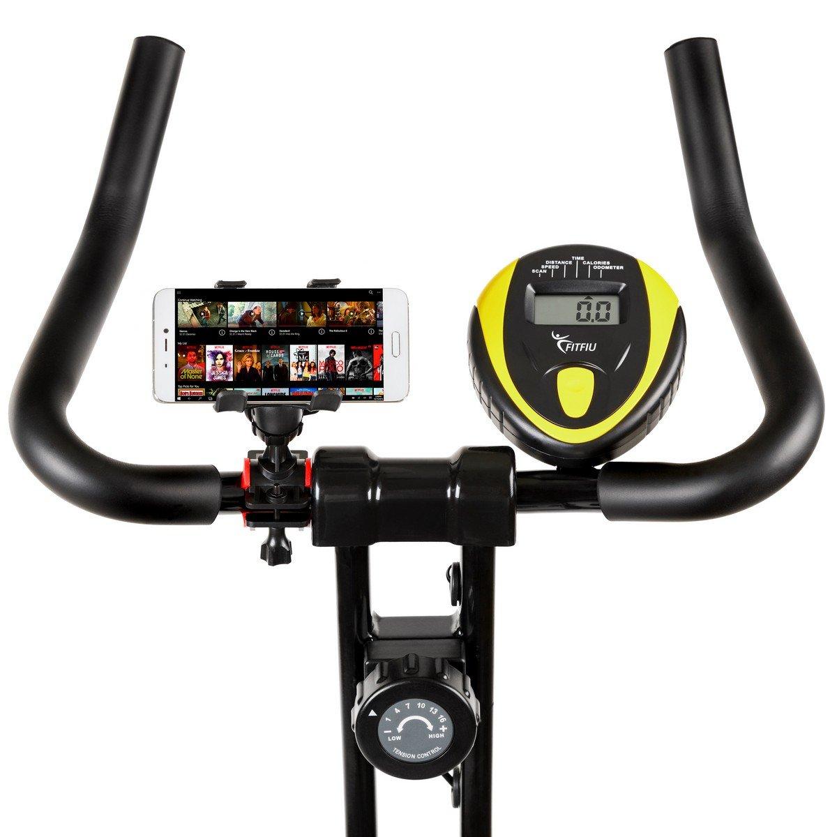 Bicicleta spinning plegable bici estatica regulable con volante inercia 7kg, calas y soporte para movil: Amazon.es: Deportes y aire libre