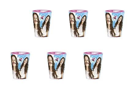 ALMACENESADAN Disney Soy Luna, 0350, Pack de 6 Vasos de plástico Reutilizables para Fiestas y cumpleaños (Soy Luna Vasos)