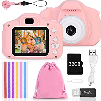 Amazon.es: Faburo Set de Cámara de Fotos Digital para Niños ...