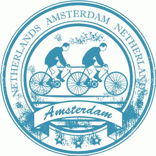 Amsterdam Netherlands Bicycle Car Bumper Sticker Decal 5