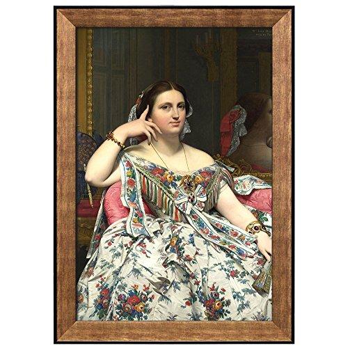 Grande Odalisque by Jean Auguste Dominique Ingres Framed Art
