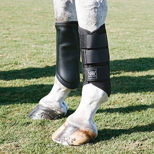 (Woof Wear Double-Lock Brushing Boots Black Large )