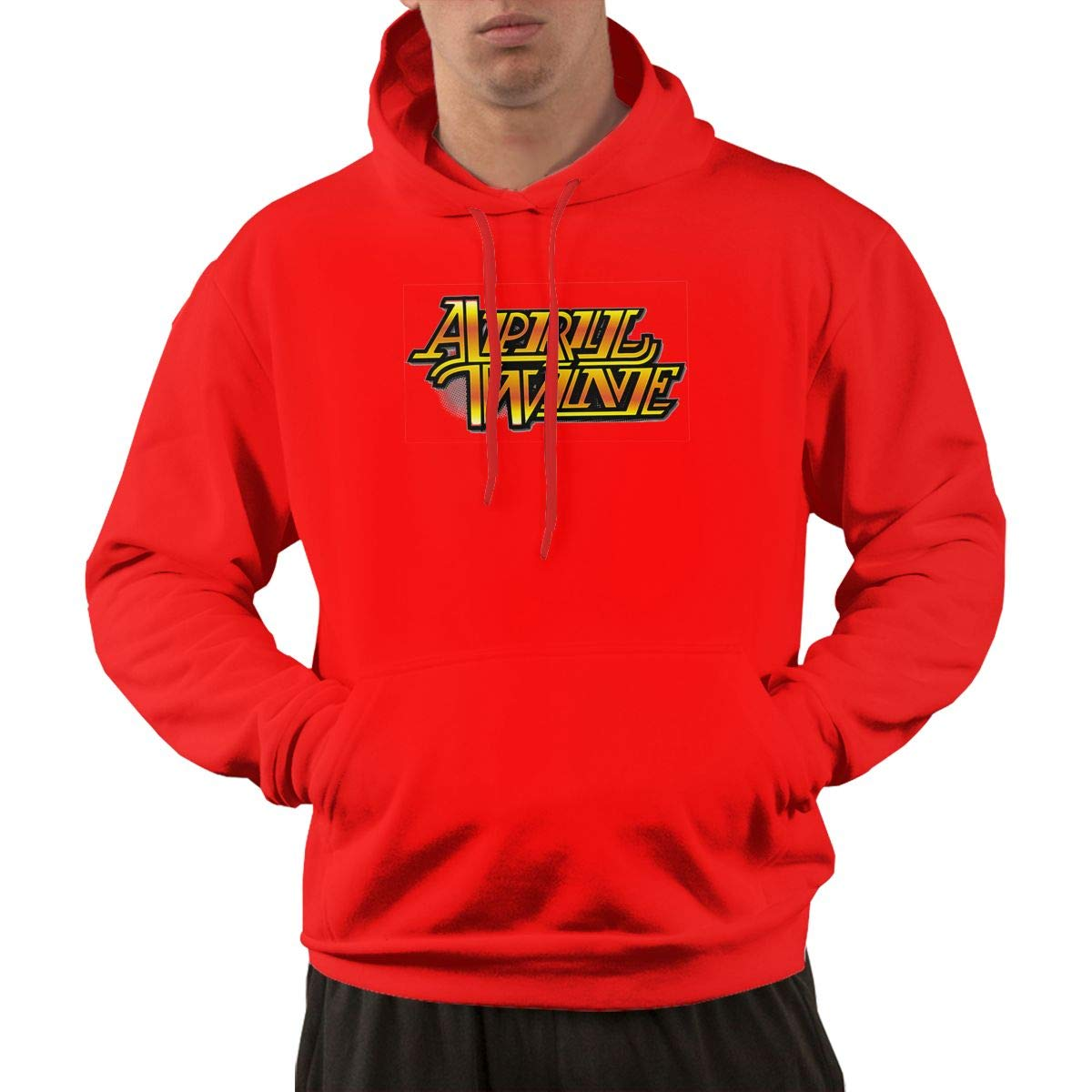 Pullover Retro Red Print April Wine Logo Cool Hooded Shirts With Pocket
