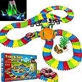 NEW FLEXIBLE VARIABLE TRACK SET 257 CHILDREN KIDS CAR RACING RACE GAME MUSIC & LIGHT