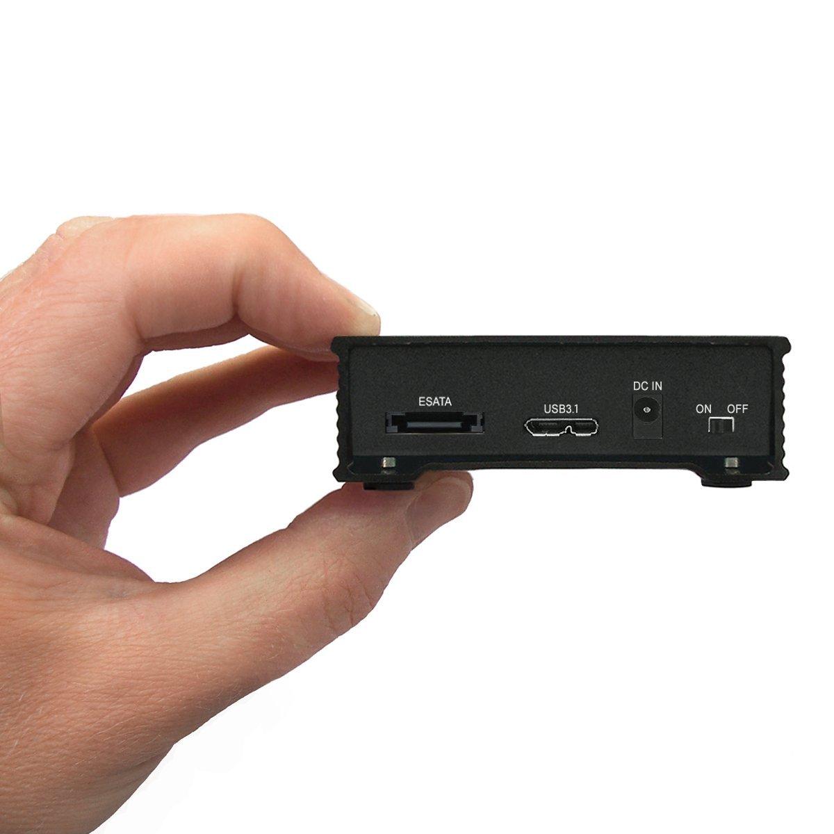 MiniPro 256GB External eSATA 6Gb/s, USB 3.1 Portable Solid State Drive SSD