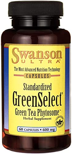 Swanson Greenselect Green Tea Phytosome 600 Milligrams 60 Capsule