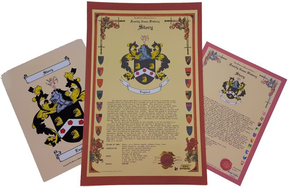 Gillette Family Crest and Coat of Arms with History and Legacy Heirloom English Origin