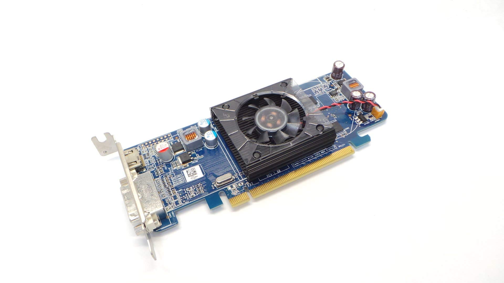 Red Planet Radeon HD 4350 Low Profile Video Card 512MB Compatible with Dell P003P. ATI AMD DVI + HDMI PCI Express x16 Graphic Card. Replaces D/PN Part Numbers: P003P 0P003P