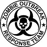 Zombie Outbreak Response Team - Vinyl Laptop or Macbook Sticker Decal (Black)