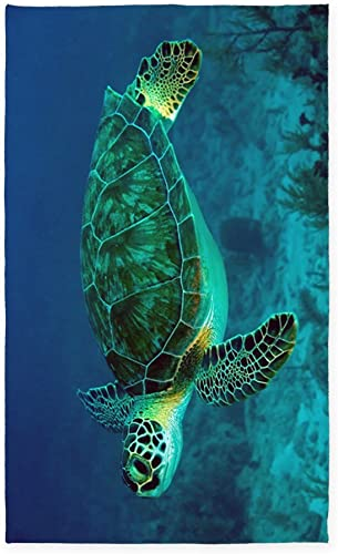 CafePress Ocean Turtle 3 X5 Decorative Area Rug, Fabric Throw Rug