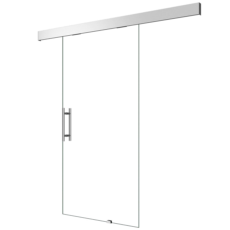 Glasschiebet/ür Amalfi TS15-775 im Design SW BxH: 77,5x205cm ESG-Sicherheitsglas Griffart: Muschelgriff