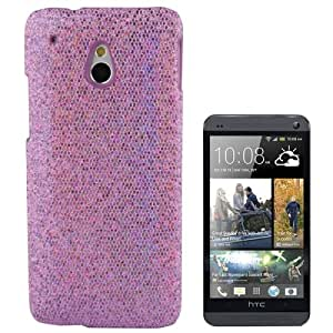 Fashion Sequins Skinning Plastic Case Cover Carcasa para HTC One mini M4 (Purple)