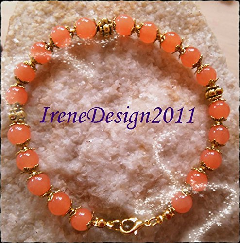 Orange Topaz Gold Bracelet