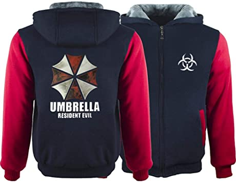 メンズパーカーフルジッパープリントレジデントイービルベルベットパッド入りフード付きセーターコートフリースパーカー、冬に適しています