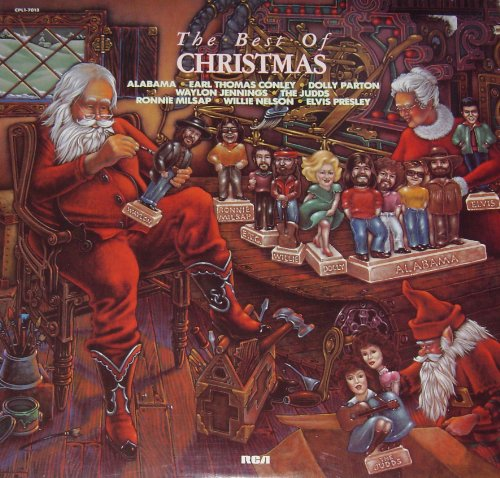 THE BEST OF CHRISTMAS Vinyl Record LP; Alabama, Dolly Parton, Waylon Jennings, The Judds, Willie Nelson, Elvis Presley . . .